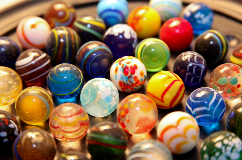 Solid White Toy Marbles : S toys the nerd nebula