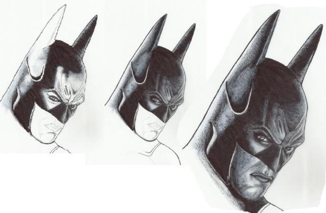 batman drawing ink