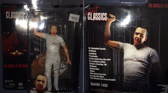 Dr Hannibal Lecter action figure in box.