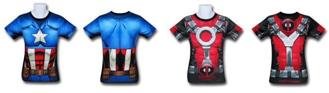 Captain America and Deadpool Gym Shirts