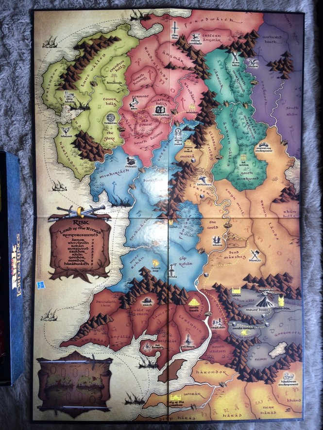 Middle Earth board Map