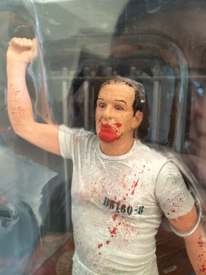 Dr Hannibal Lecter action figure close up.