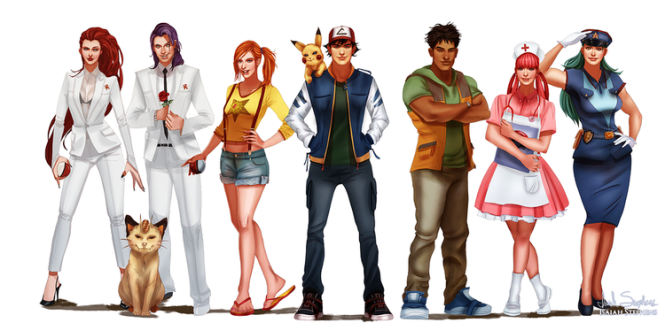Pokemon Cast as Adults