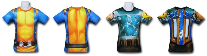 Wolverine and Boba Fett Gym Shirts