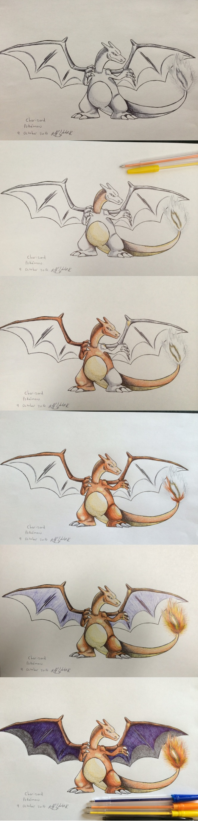 Charizard Progression