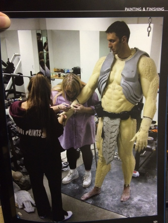 Predator Costume Fitting