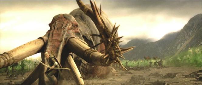 Legolas vs Mumakil
