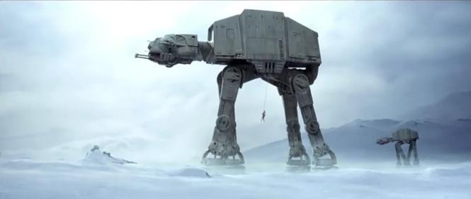 Luke Skywalker vs AT AT