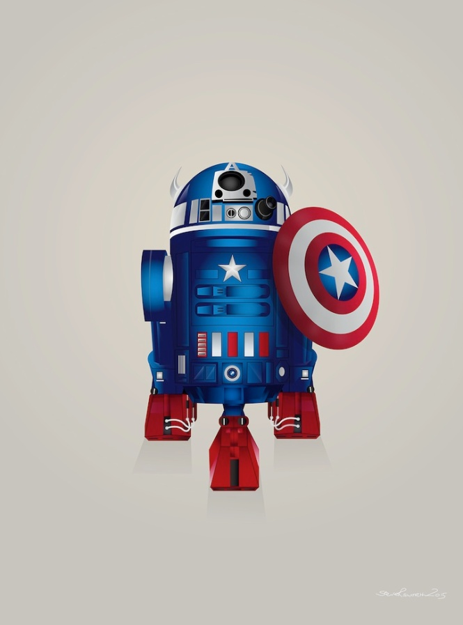 Captain America R2D2