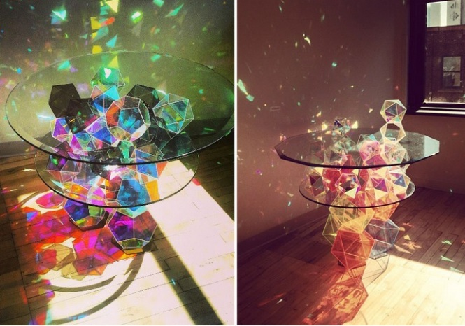 Geometric Sparkling Table