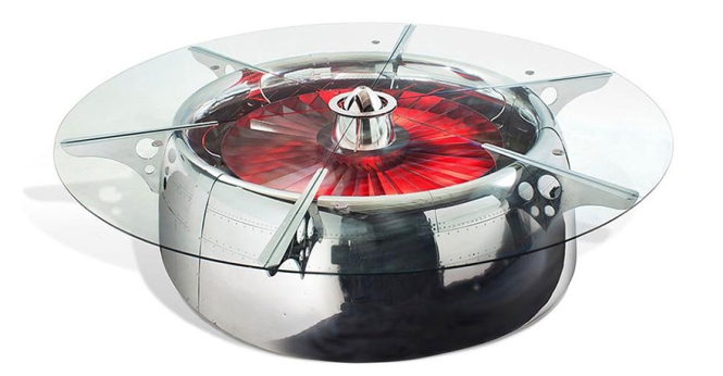 Recycled Jet Engine Table