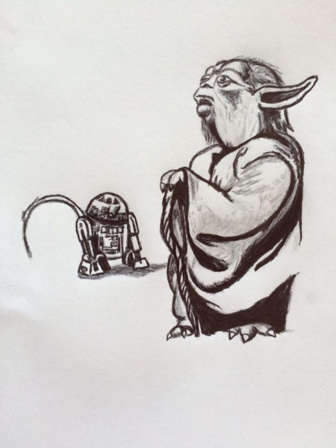 Yoda with R2D2