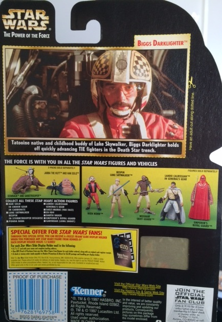 Biggs Darklighter Back of Box