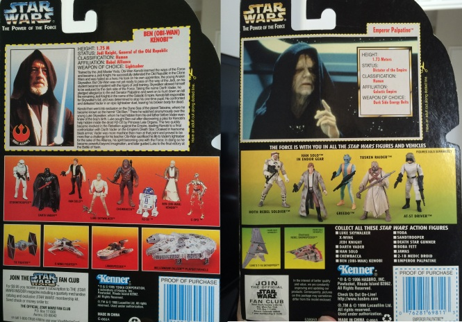 Back of Kenobi and Palpatine Boxes