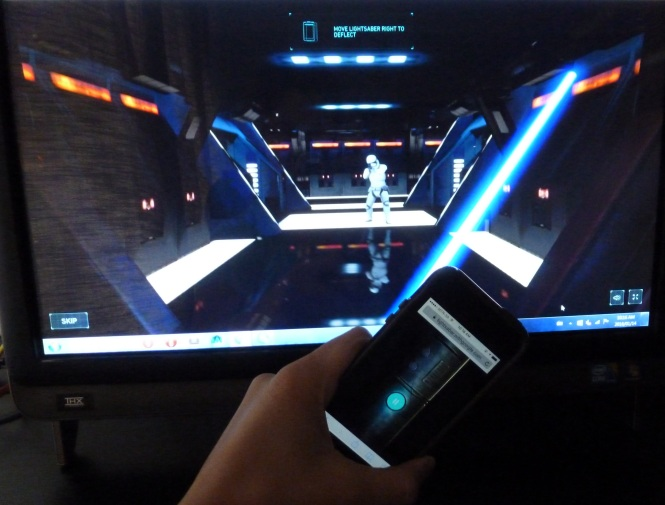 Calibrate phone AKA lightsaber