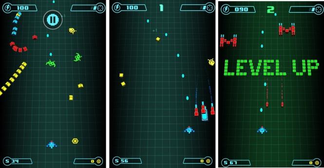 Retro Grid Video Game