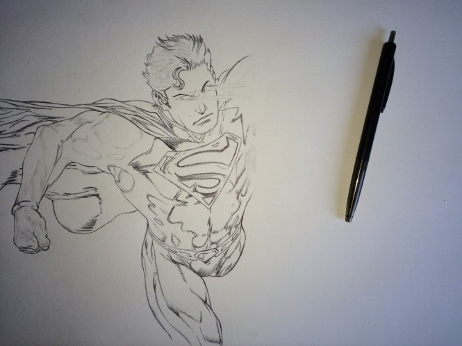 Superman Fan Art Work in Progress