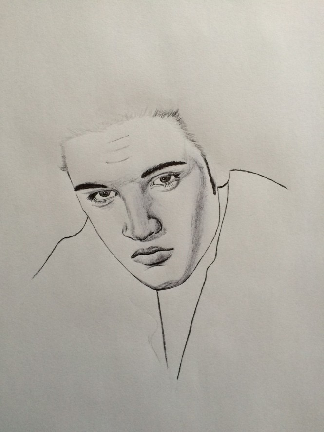 Elvis Fan Art Work in Progress