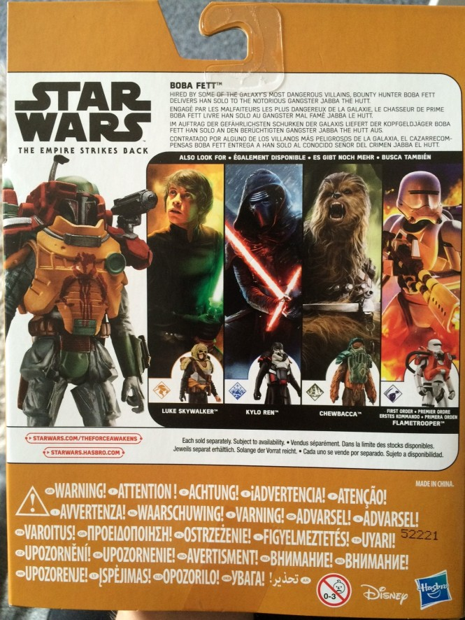 Boba Fett Back of Box